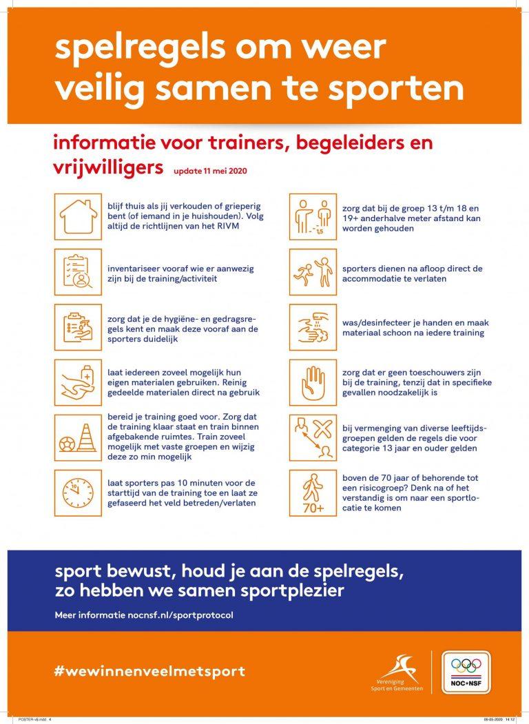 Spelregels voor sporters